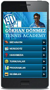 gd tennis academy mobil websitesi